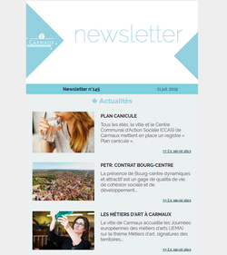 Illustration Newsletter de la ville de Carmaux